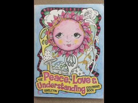 The Peace Love Understanding Coloring Book Flip Through