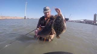 Galveston flounder fishing 11/28/17