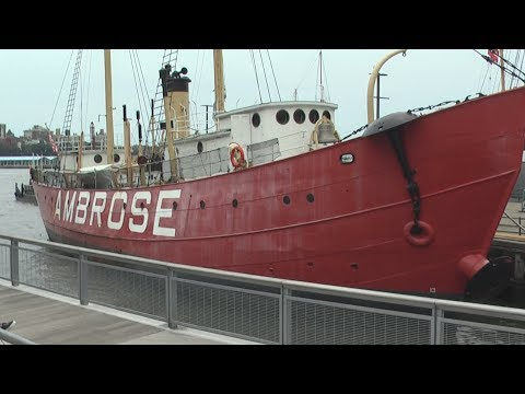 Lightship Ambrose - 1907 Vessel Is Part Of New York's South Street Seaport Museum