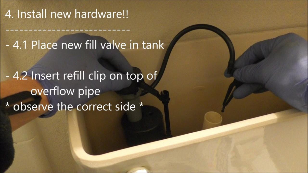 toilet fill valve and flapper. FluidMaster Kit  Replacing Toilet Fill Valve Flapper YouTube