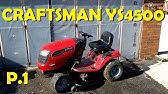 Craftsman Riding Lawn Mower Disembly, Repair Help - YouTube on