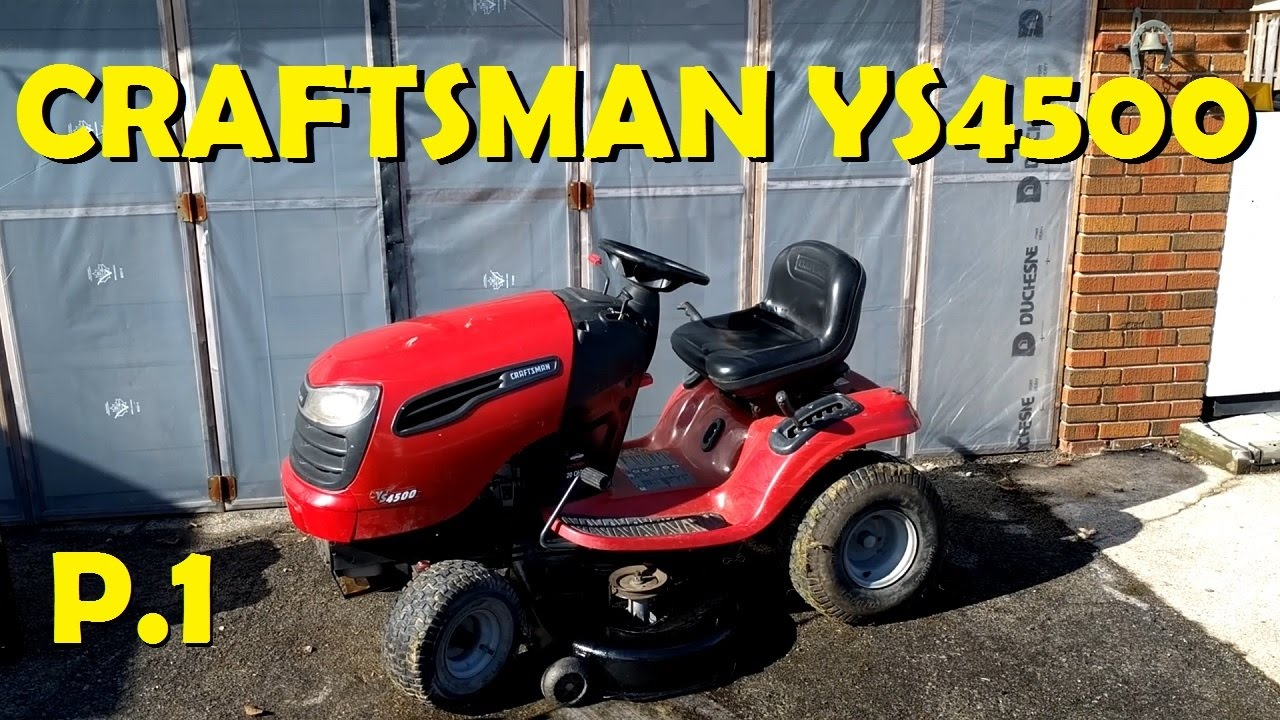 Craftsman YS4500 Deck Removal & Carb Clean Part 1
