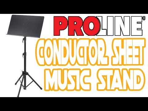 Proline GMS80A Conductor Sheet Music Stand |  Review | Unboxing