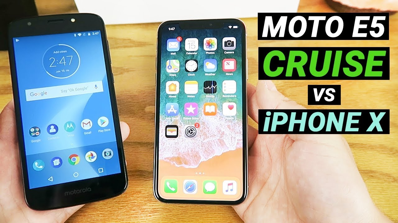 on sale a8842 44537 Moto E5 Cruise vs iPhone X - Which is better?