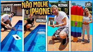 QUEM ATRAVESSAR O IPHONE NA PISCINA SEM MOLHAR GANHA 5000R$!! [ REZENDE EVIL ]