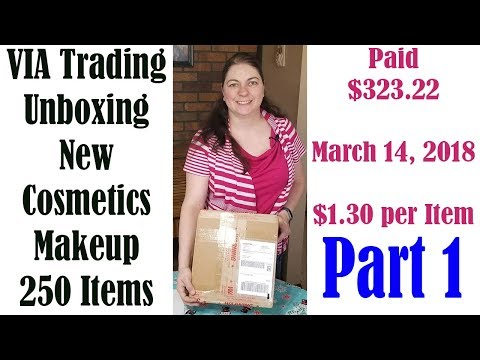 Via Trading Unboxing Reveal Part 1 Paid $323.22 NYX Makeup New Condition
