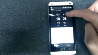 Встановлення будильника на телефоні HTC one 801e