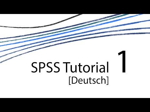 SPSS Tutorial 1 [D]  – Einführung