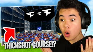 So a FAN made me a TRICKSHOT COURSE (so fun)