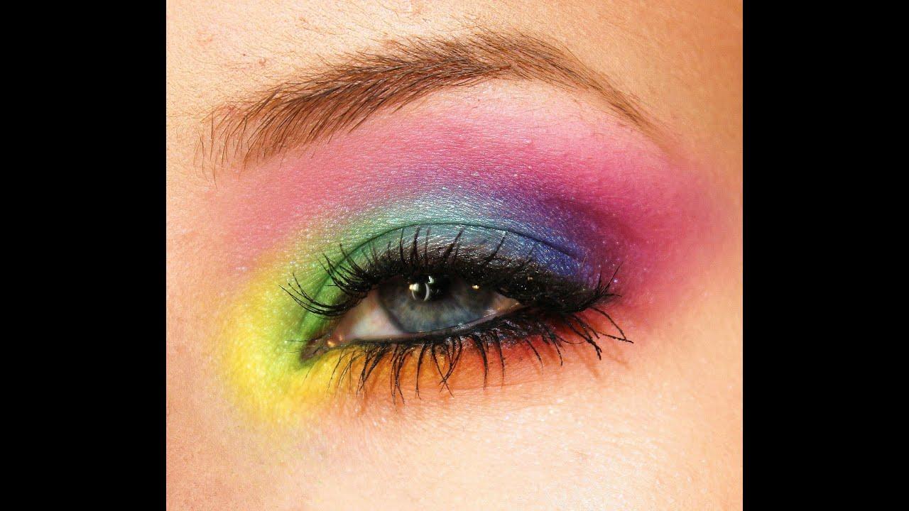 Rainbow Eye Makeup Tutorial Youtube