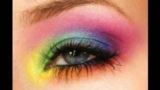 colorful rainbow makeup