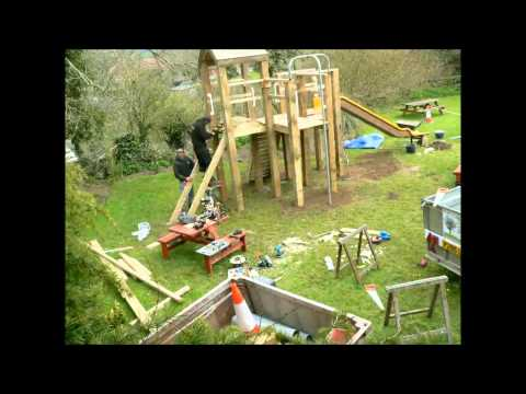 Bespoke Timber Play Equipment Construction (Time Lapse) at The Marquis Of Lorne, Nettlecombe