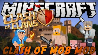 MINECRAFT MOD: CLASH OF CLANS MOD 1.8 - CLASH OF CLANS IN MINECRAFT, MOD EPICA!
