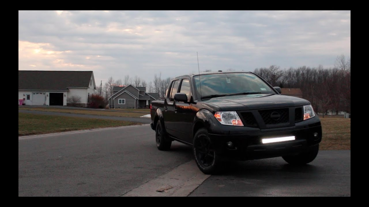 Custom led light bar install nissan frontier youtube mozeypictures Choice Image
