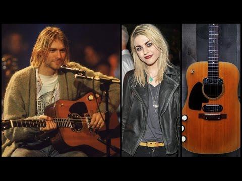 Hija de Kurt Cobain pelea en divorcio la última Guitarra de su Padre