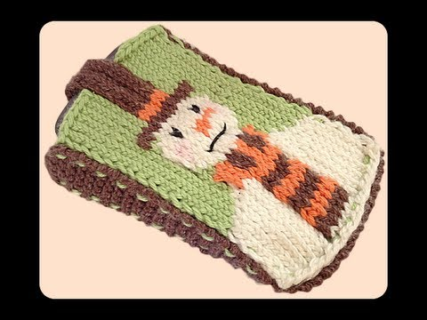 How To Knit Snowman Mobile Phone Cover Case Part 1 Youtube