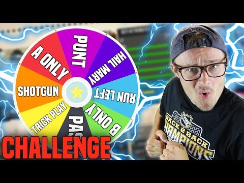 SPIN THE WHEEL OF PLAYS MADDEN 18 ONLINE CHALLENGE!! (Really Hard!)