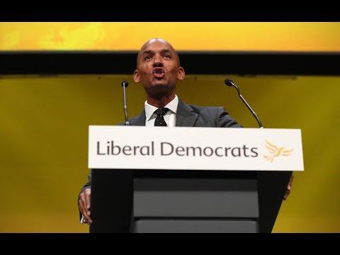 Chuka Umunna, Siobhan Benita and Ed Davey make speeches at Lib Dems conference in Bournemouth