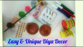 Easy and Unique Diya Decor ideas with available material at home | Diwali decoration 2018 |