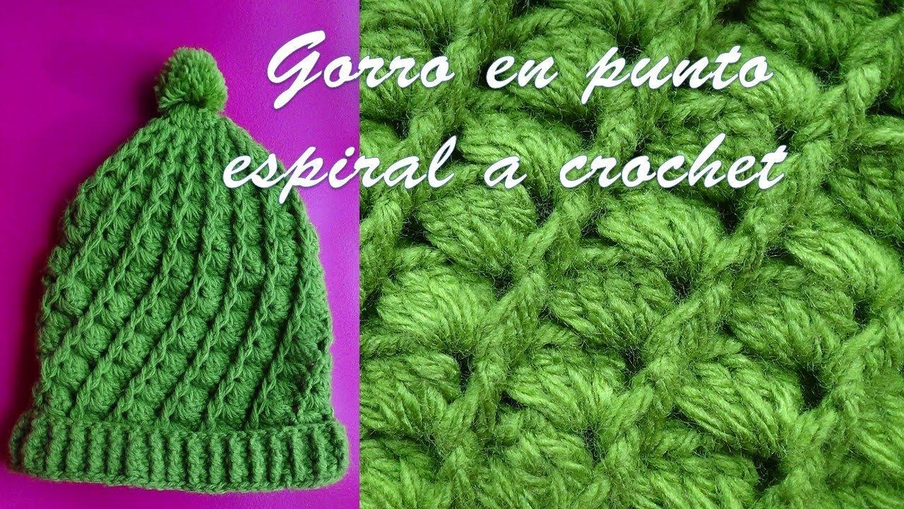 Gorro a crochet en punto espiral paso a paso con indicaciones todas las  tallas. TEJIDOS OLGA HUAMAN faa8854c56a