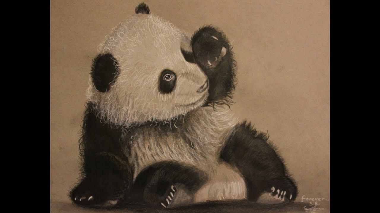 Cute panda baby drawing - photo#19