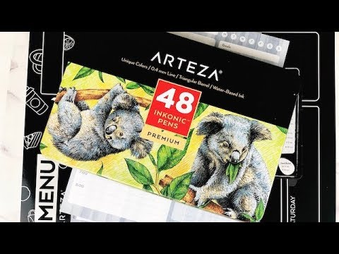 Arteza Unboxing First Impression   Planning With Kristen thumbnail