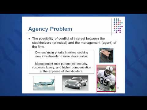 Session 01: Objective 4 - Agency Problem and Control of the Corporation