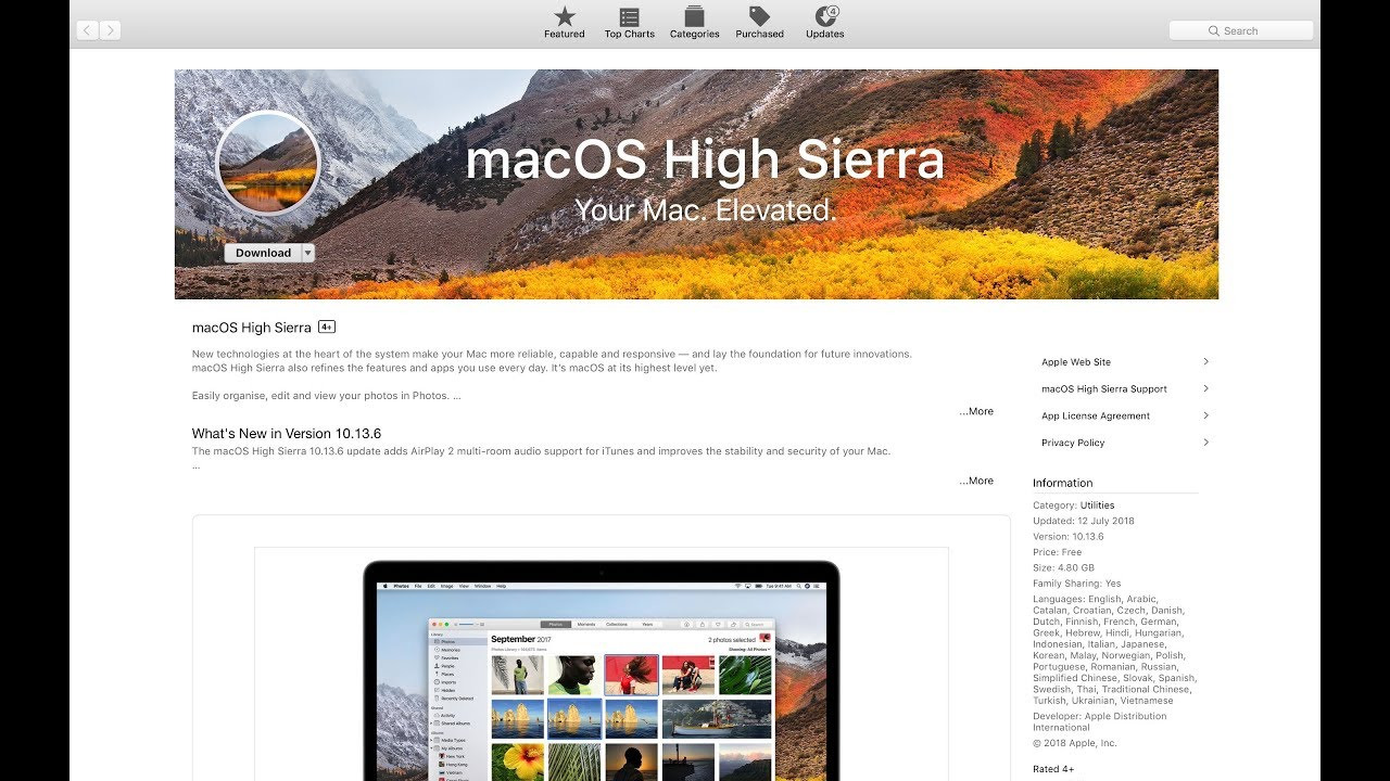 how to download macos high sierra from mojave