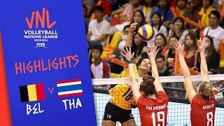 BELGIUM Vs. THAILAND -  Highlights Women | Week 2 | Volleyball Nations League 2019