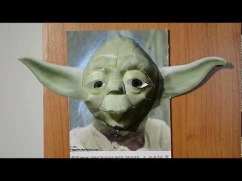 [HD] Yoda Papercraft 3D [Nikon D3100]