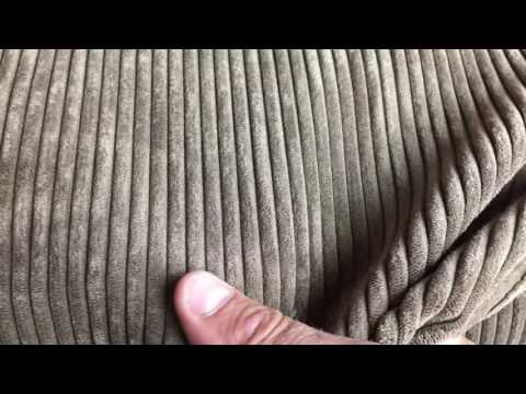 Plush Brown Microfiber Corduroy Upholstery Fabric 4-Wale By The Yard 54 Inches