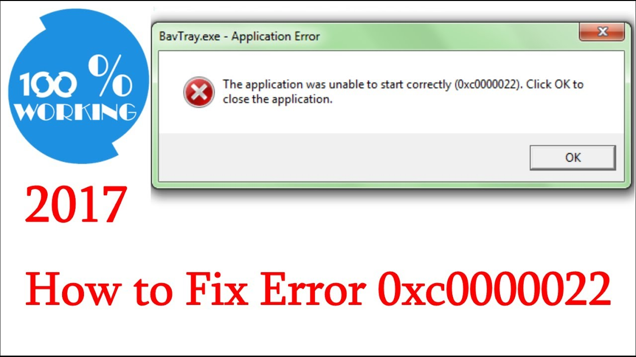 How to Fix Error 0xc0000022 | 2017 by 100% Working