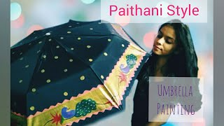 Gambar cover Umbrella Painting| Paithani Style|vedikajaokar