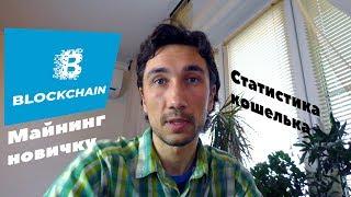 Майнинг ферма / Статистика кошелька blockchain в nicehash.