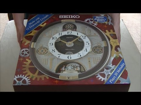 Seiko melodies in motion 2018 unboxing and review QXM377BRH Swarovski