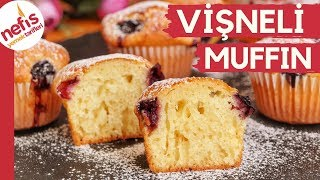 ÇABUCAK PİŞER KABARDIKÇA KABARIR 🥧🍒 Yumuşacık Vişneli Muffin 🍒
