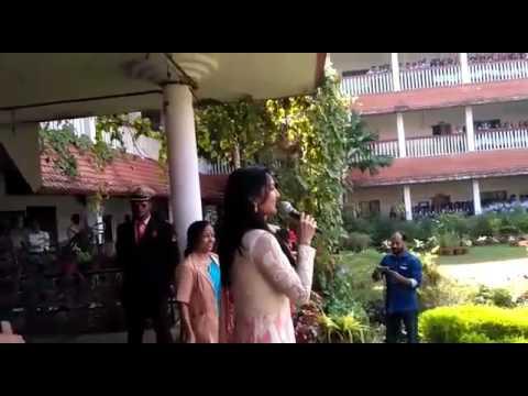 Actress Manju and actor Nagarjuna..at chinmaya vidyalaya