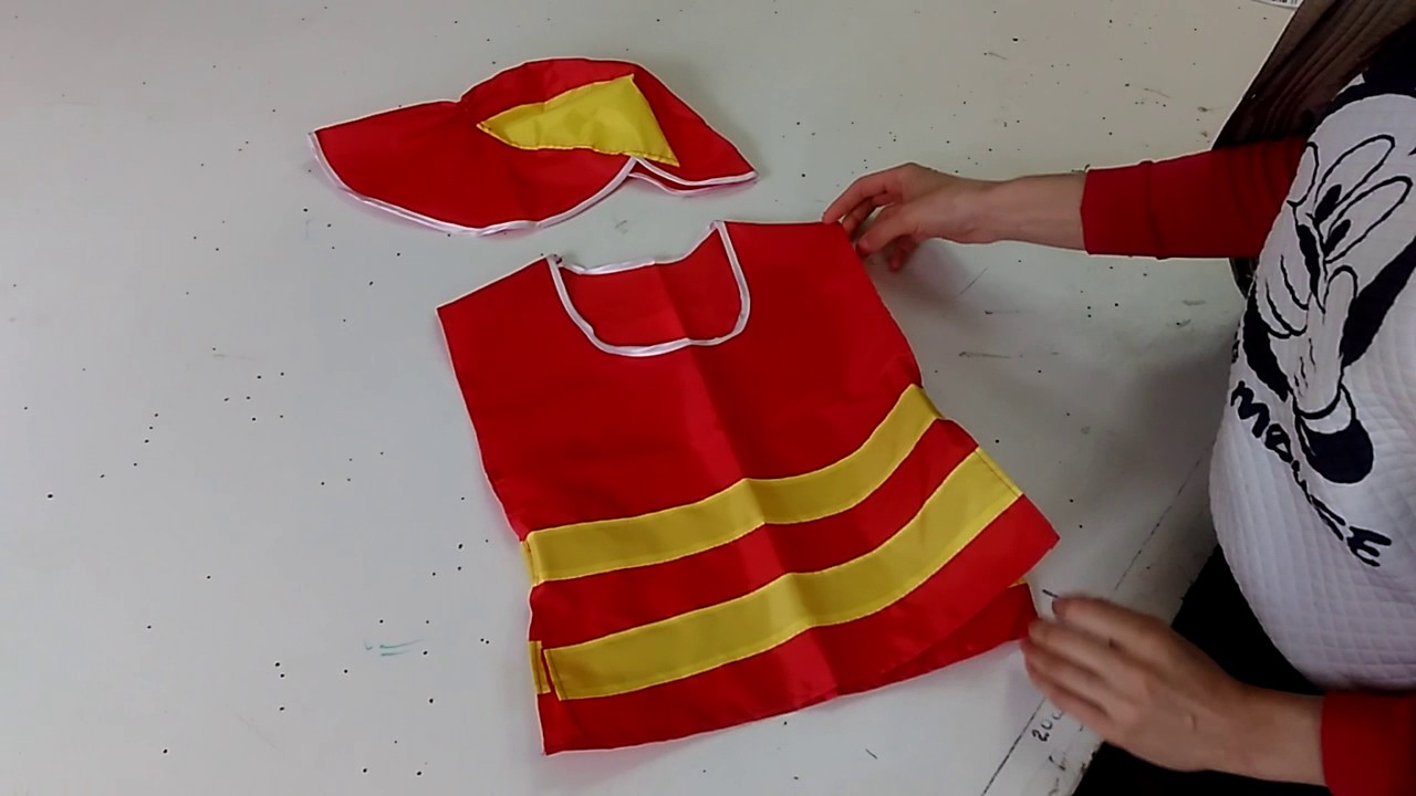 Костюм пожарного для детского сада своими руками