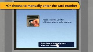 Credit card payment via ATM Machine