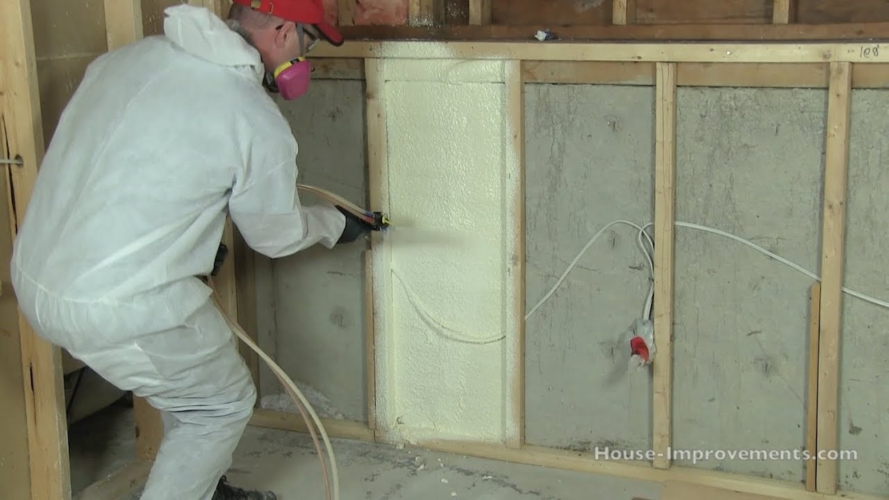 How To Install Spray Foam Insulation Diy Youtube