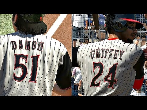 ROOKIE JOHNNY DAMON & GRIFFEY TAKE THE FIELD!! MLB The Show 17 Diamond Dynasty