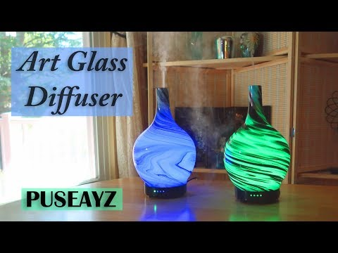 art-glass-(handmade)-puseayz🌺-aromatherapy-essential-oil-diffuser-review👈