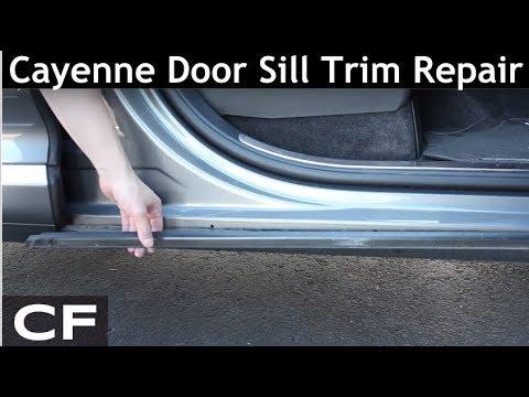 How to repair Porsche Cayenne door sill trim (955 957 DIY Tutorial)
