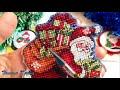 Поделки - #118/Крестик.Новогодняя вышивка: Игрушки Dimensions Олень, Сани, Санта Клаус