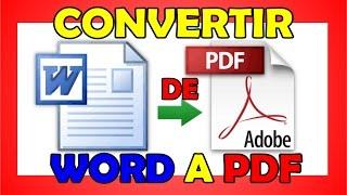 COMO CONVERTIR WORD A PDF - sin programas