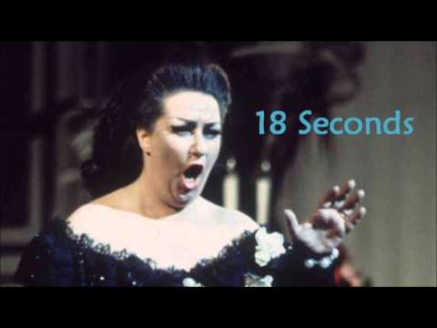 Montserrat Caballé Longest Note 18 Seconds