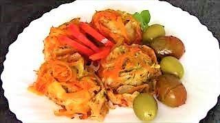 Гусарики с картошкой - горячее, сытное и вкусное блюдо для поста.