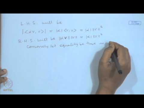 Mod-01 Lec-08 Inner Product Spaces, Cauchy-Schwarz Inequality