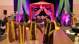 MIRROR SKIT AND MEHNDI DANCE - Pakistani wedding Hammad + Mehar, Part 2/3