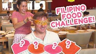 BLIND FILIPINO FOOD CHALLENGE (Nag-blindfolded taste test si Papang!) | PokLee Cooking
